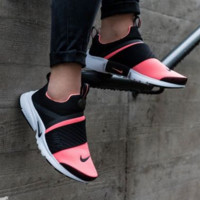 NIKE contrast Trending Fashion Casual Sports Shoes Rose Rose red-white soles