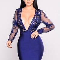 Gabrielle Bandage Dress - Navy
