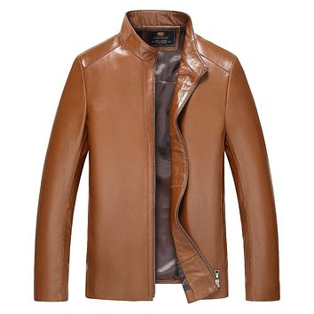 Leather & Suede Motorcycle  Leather Jackets Men 2017 New arrived spring Autumn Winter Business casual fashion coats