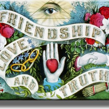 Friendship, Love, and Truth Picture on Acrylic Wall Art Décor Framed Ready to Hang!