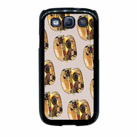 pugs burger case for samsung galaxy s3 s4