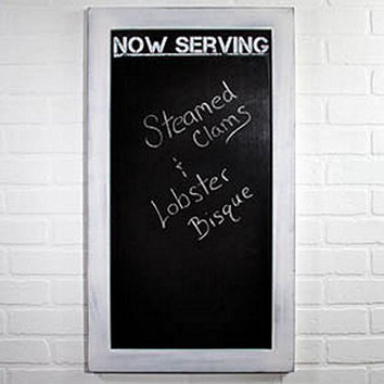 now serving white wash wood framed chalkboard 32 in