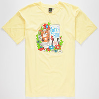 Catch Surf Spicolli Mens T-Shirt Yellow  In Sizes