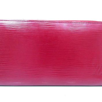 Authentic Louis Vuitton Epi Zippy Wallet M60305 Fuchsia Long Wallet Pink 54932