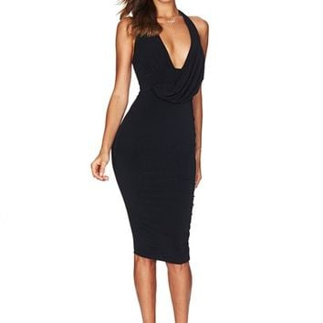 Black Revolution Halter Dress : Buy on Sale Now