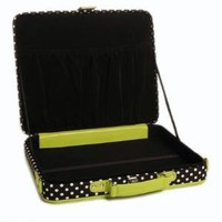 Laptop Case in Green with Polka Dot Trim $76