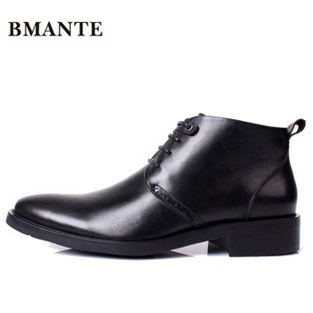 Real Leather Luxury Designer Casual Brand Male Boot Social Formal chukka Dress Shoe Chelsea Office Footwear for Men de Chaussure