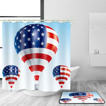 American flag printed waterproof curtain hanging cloth [11550526223]