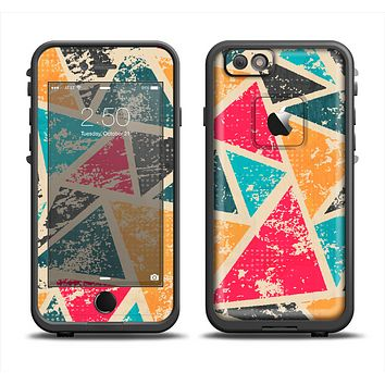 The Chipped Colorful Retro Triangles Apple iPhone 6 LifeProof Fre Case Skin Set