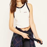 Truly Madly Deeply Okay Henley Tank Top - Urban Outfitters