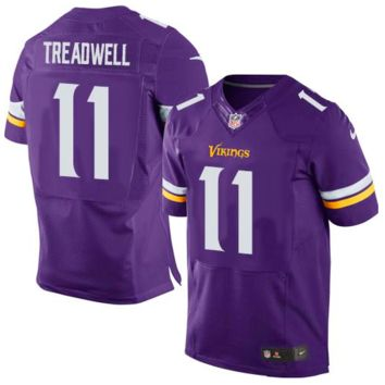 KUYOU Minnesota Vikings Jersey - Laquon Treadwell Elite Purple Jersey