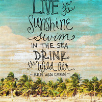 Live In The Sunshine - Photo Inspiration Art Print by Misty Diller of Misty Michelle Design
