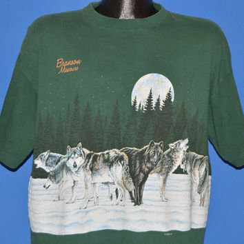 90s Branson Missouri Wolf Pack Wrap Around t-shirt Large