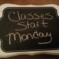 Homemade Wooden Chalkboard perfect for Dorm Room/College/Bed Room/Office/Kitchen