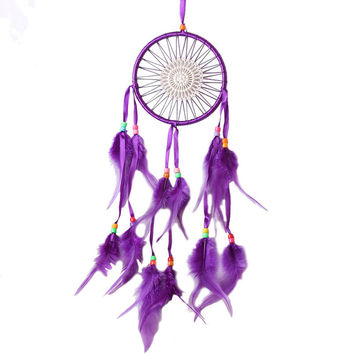 Fashion Dream Catcher Sun Flower Design Handmade Dream Catcher Purple Hanging Decoration Wall Hanging Gifts Dreamcatcher
