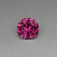 Rhodolite Garnet: 3.44ct Red Round Shape Gemstone, Natural Custom Cut Hand Made Faceted Gem, Loose Precious Mineral Creative Lapidary  20915