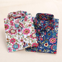 Vintage Floral Print Womens Button Up - Pre-Order