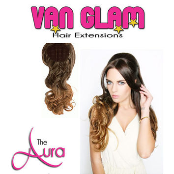 The Aura, Ombre, Crown Clip In Hair Extensions 22""