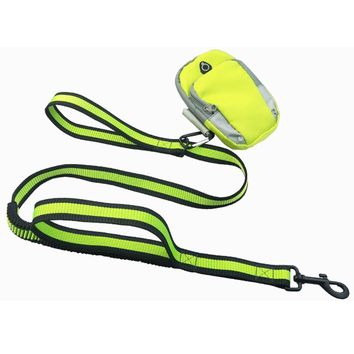 Hands Free Dog Leash Includes Bag Dispenser and Training Ebooks - Premium Quality - Waist Dog Leash for Running Hiking Jogging Waking - Ideal for Medium to Large Dogs