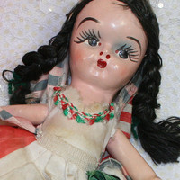 Vintage Ethnic Mexican Composition Noche Buena Doll D226
