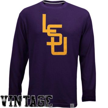 Nike LSU Tigers Vault Long Sleeve Thermal Shirt - Purple