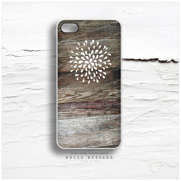 iPhone 5 Case Wood Print, iPhone 5s Case Floral, iPhone 4 Case, Rustic iPhone 4s Case, iPhone Case, Wood iPhone Cover T70