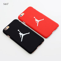 Supre Flyman Michael Jorden phone case Red Black Matte Hard Plastic Cover Coque Fundas Capa for iphone 5 5s SE 6 6s 6plus case