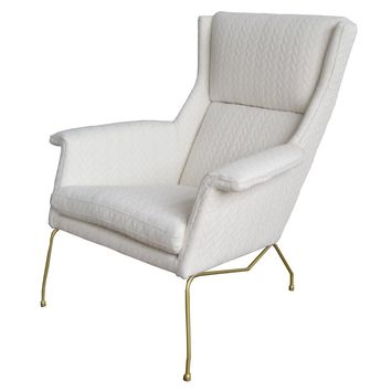 Evian Arm Chair, Icy Leafage Beige