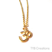 OM/OHM Necklace, Gold Necklace