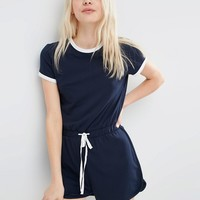 ASOS Casual Romper with Contrast Binding