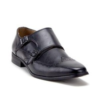 Men's D-491 Distressed Double Monk Strap Casual Loafers Dress Shoes