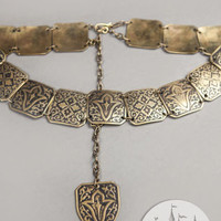 Exclusive Etched Women's Brass Belt