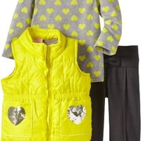 Nannette Baby Girls' 3 Piece Vest with Shirt and Pant