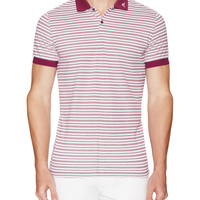 J. Lindeberg Golf Men's Ross Hybrid Pique Polo - Purple -
