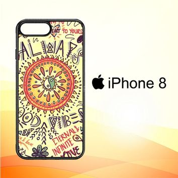 American Hippie Psychedelic L1340 iPhone 8 Case