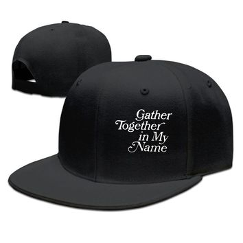 Maya Angelou Gather Together In My Name Breathable Unisex Adult Womens Hip-hop Cap Mens Snapback Caps