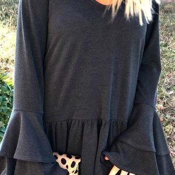 Winter Flare Top