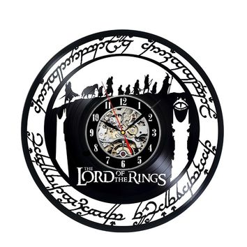 The Lord of Rings Art Vinyl Wall Clock Gift Room Modern Home Record Vintage Decoration