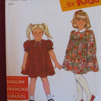 SALE McCall's Sewing Pattern, 9882! Size 2-3-4-5-6-6X, Girls/Kids/Children Summer/Spring Dresses, Casual/Play or Formal Flower Girl
