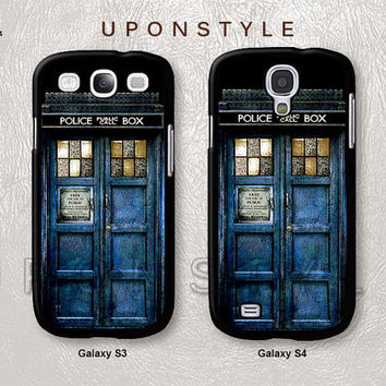 Samsung Galaxy S4 case, Galaxy S3 case, TARDIS Doctor Who, Police Box, Phone Cases, Phone Covers, Skins, Case for Samsung, Case No-84