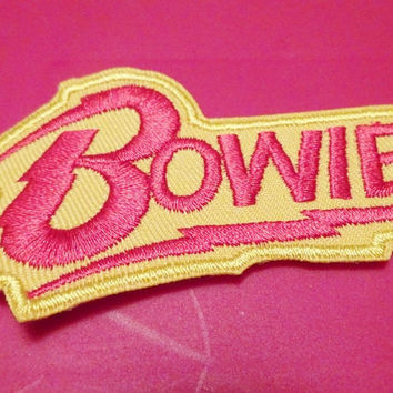 Bowie Patch. David Bowie. Embroidered Patch. Iron On Licensed Applique. Ziggy Stardust. Labyrinth. Upcycle your Jacket. (G)