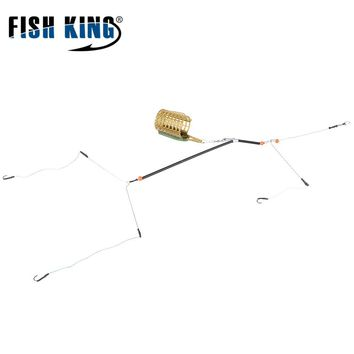 FISH KING Fishing Tool Accessories 1PC 30G 40G 50G 60G 70G 80G  Bait Cage With Line Hooks For Carp Feeder Fishing Tackle
