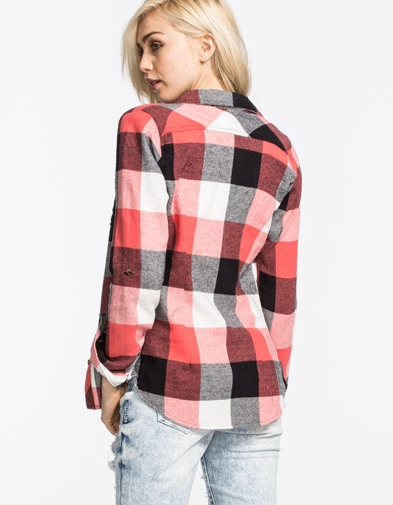 Polly & Esther Womens Basic Flannel Shirt from Tilly's | Epic
