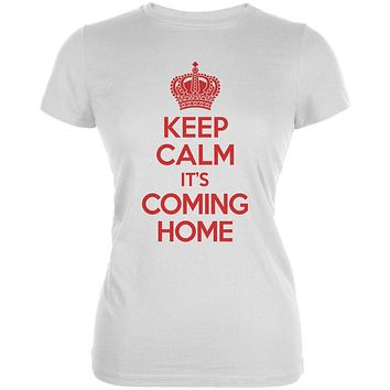 World Cup England Keep Calm it's Coming Home Juniors Soft T Shirt