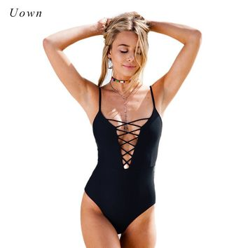 Red Black Lace up Bodysuit Women Summer Spaghetti Strap Deep Plunge V Neck Thong Bodysuit Female Body Suit Sexy Leotard Tops XXL