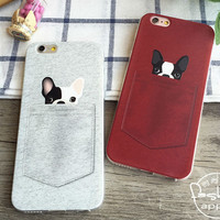 Soft gel silicone phone case for french bulldog lovers