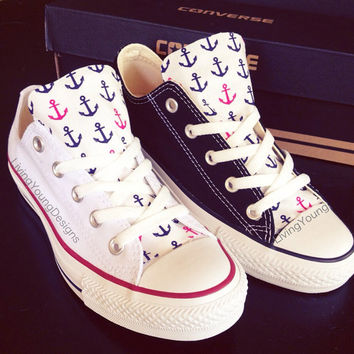 Custom Converse Low Top Sneakers Anchor Chuck Taylors