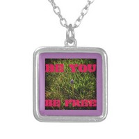 BE YOU BE FREE SILVER PLATED NECKLACE