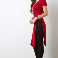 Jersey Knit Double High-Slit Top