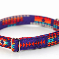Native American dog collar - Navajo Collar - Tribal in Purple